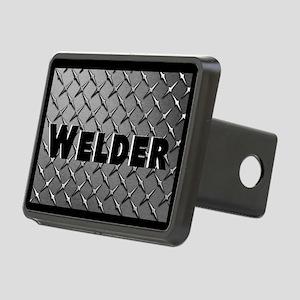 Welder Diamond Plate Rectangular Hitch Cover
