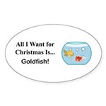 Christmas Goldfish Sticker (Oval 10 pk)