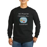 Christmas Goldfish Long Sleeve Dark T-Shirt