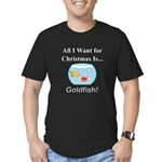 Christmas Goldfish Men's Fitted T-Shirt (dark)