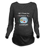 Christmas Goldfish Long Sleeve Maternity T-Shirt