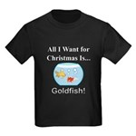 Christmas Goldfish Kids Dark T-Shirt