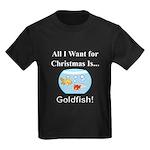 Christmas Goldfish Kids Dark T-Shirt