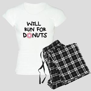 Will Run for Donuts Women's Light Pajamas