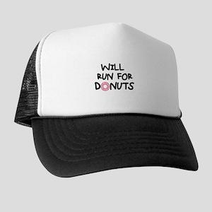 Will Run for Donuts Trucker Hat
