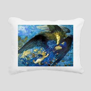 Angel with Putti Rectangular Canvas Pillow