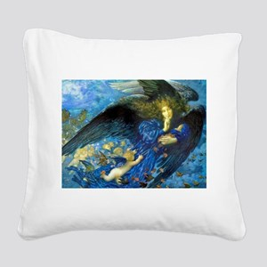 Angel with Putti Square Canvas Pillow