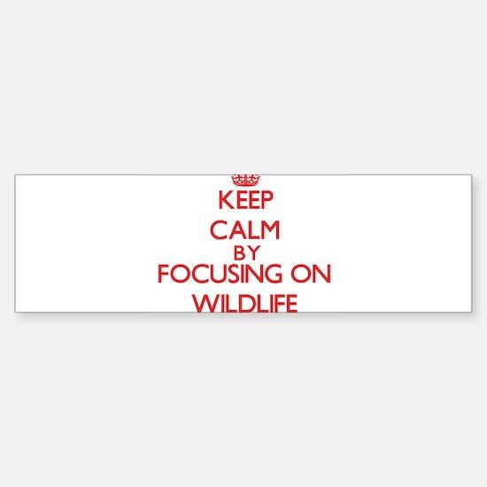 Keep Calm by focusing on Wildlife Bumper Bumper Bumper Sticker