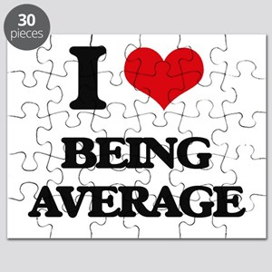 I Love Being Average Puzzle