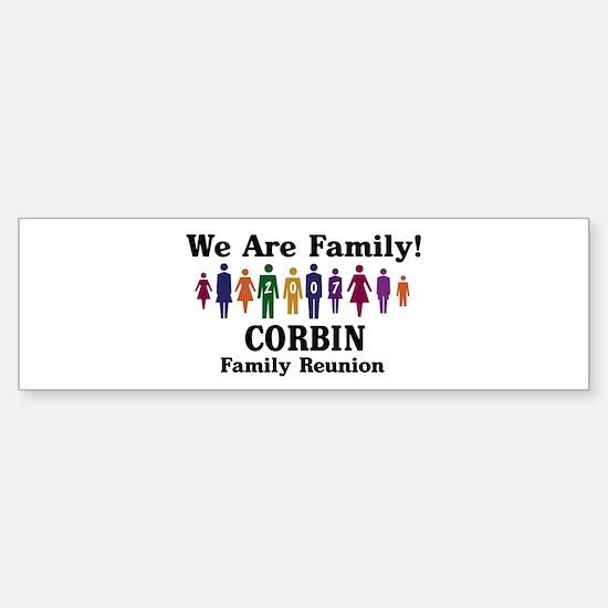 CORBIN reunion (we are family Bumper Bumper Bumper Sticker