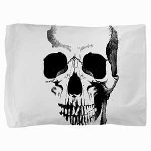skull-face_bl Pillow Sham