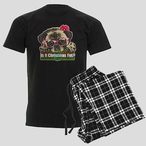 Is it Christmas yet pug Men's Dark Pajamas
