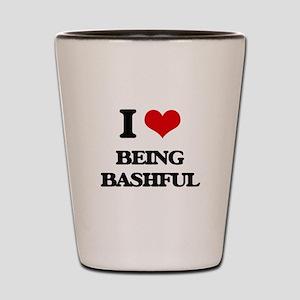 I Love Being Bashful Shot Glass