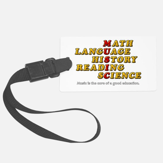 Music Education Luggage Tag