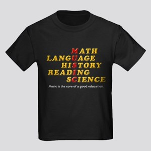 Music is The Core of a Good Educ Kids Dark T-Shirt
