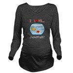 I Love Goldfish Long Sleeve Maternity T-Shirt