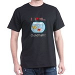 I Love Goldfish Dark T-Shirt