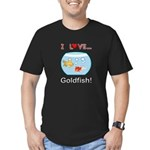 I Love Goldfish Men's Fitted T-Shirt (dark)