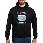 I Love Goldfish Hoodie (dark)