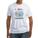 I Love Goldfish Fitted T-Shirt