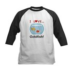 I Love Goldfish Kids Baseball Jersey