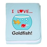 I Love Goldfish baby blanket