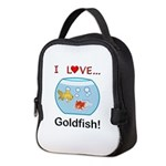 I Love Goldfish Neoprene Lunch Bag