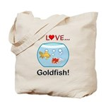 I Love Goldfish Tote Bag