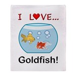 I Love Goldfish Throw Blanket