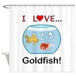 I Love Goldfish Shower Curtain