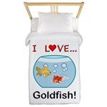 I Love Goldfish Twin Duvet