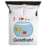 I Love Goldfish Queen Duvet