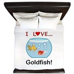I Love Goldfish King Duvet
