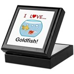 I Love Goldfish Keepsake Box