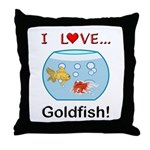 I Love Goldfish Throw Pillow