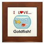 I Love Goldfish Framed Tile