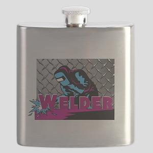 Welder Diamond Plate Flask