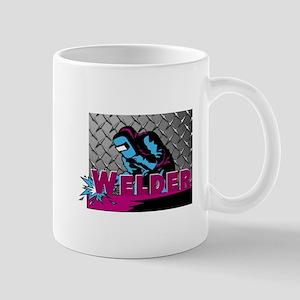 Welder Diamond Plate Mugs