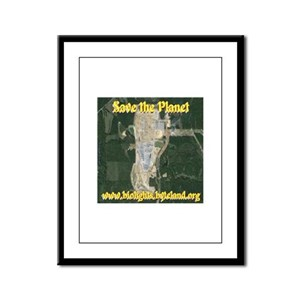 Save the Planet Kemper County C Framed Panel Print
