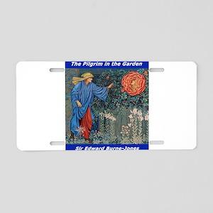 Pilgrim in the Garden Aluminum License Plate