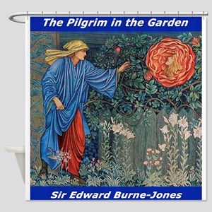 Pilgrim in the Garden Shower Curtain