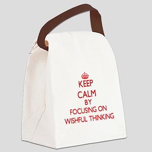 Keep Calm by focusing on Wishful Canvas Lunch Bag