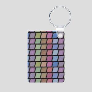 Eyeshadow Options Aluminum Photo Keychain