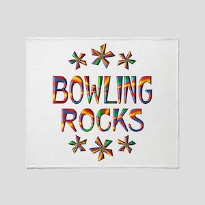 Bowling Rocks Throw Blanket