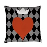 Heart With Crown Motif Master Pillow