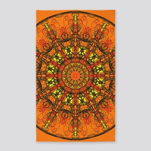 Harmony in Orange Area Rug