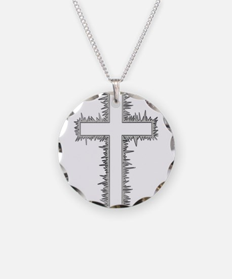 Electric silver cross Necklace