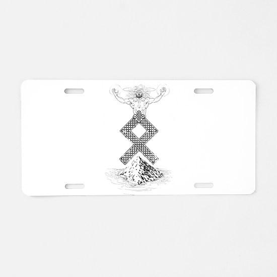 Odal Rune Odin Aluminum License Plate