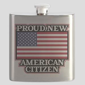 Proud New American Citizen Flask
