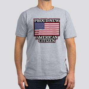 Proud New American Cit Men's Fitted T-Shirt (dark)
